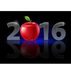 New year twenty-sixteen vector image vector image