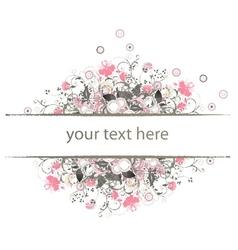 retro floral frame vector image