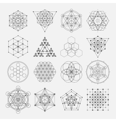Sacred geometry design elements Alchemy vector image vector image