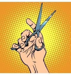 Scissor hand Barber vector image vector image