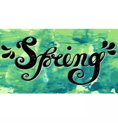 Spring Quote Spring season or springtime vector image vector image