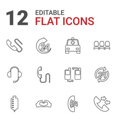 12 support icons vector