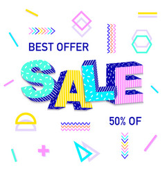 3d word sale vector
