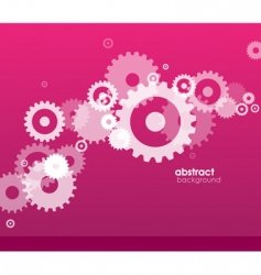Abstract background with wheels vector