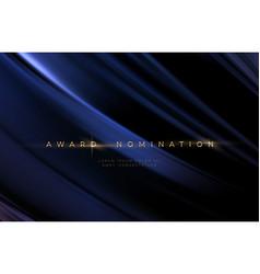 Awards ceremony luxurious black wavy background vector
