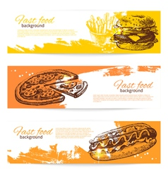 Banners fast food design vector