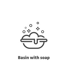basin with soap icon symbol vector image