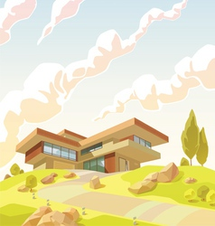 Beautiful Modern Villa vector image