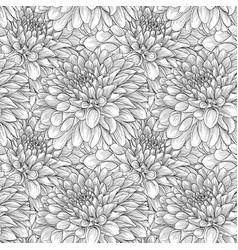 beautiful monochrome seamless background black vector image