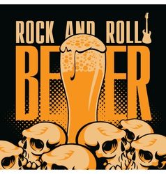 Beer and rock n roll vector