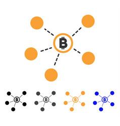 Bitcoin network icon vector