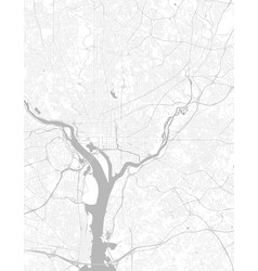 black and white city map washington with well vector image