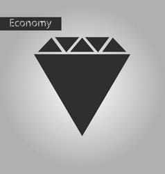 black and white style icon diamond vector image