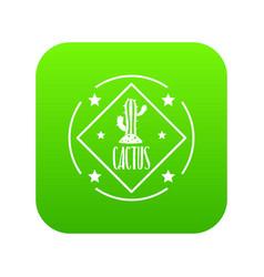 cactus icon green vector image