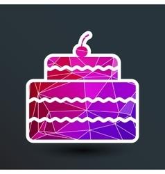 Cake Design symbol logo dessert food sweet vector