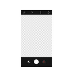 camera app screen interface mockup photo vector image