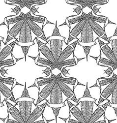 Cannabis pattern5 vector image