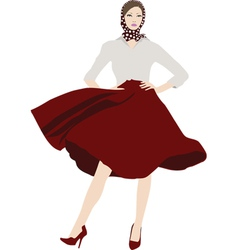 Chic girl vector