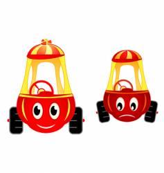 child cars raicing vector image