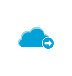 cloud computing icon arrow right icon vector image