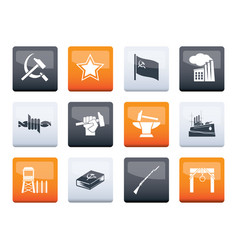 Communism socialism and revolution icons vector