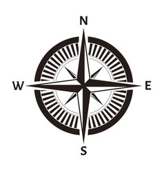 compass rose wind nautical equipment isolated vector image
