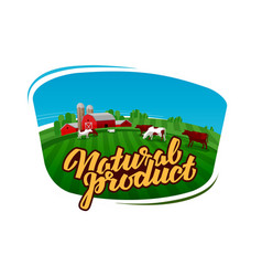 cow milk logo dairy farm farmer or cattle vector image
