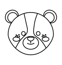 Cute little bear animal character vector