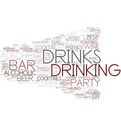 drink word cloud concept vector image