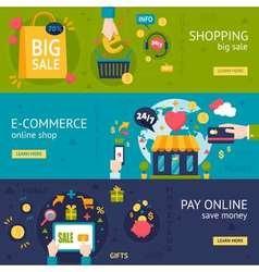 E-commerce Shopping Horizontal Banners vector image