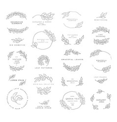 Et floral design elements vector