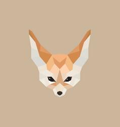 fennec fox polygonal style vector image