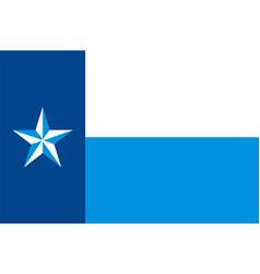 flag dallas county texas usa vector image