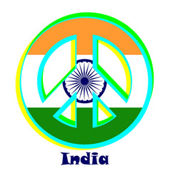 Flag of india as a sign of pacifism vector