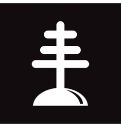 Flat icon in black and white style antenna vector