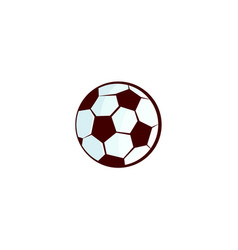 flat sketch football ball isolated vector image