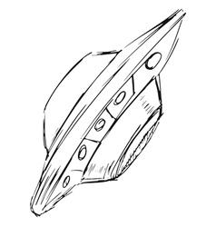 flying UFO vector image