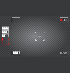 Focusing screen of the camera viewfinder camera vector