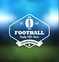 Football championship logo sport vector