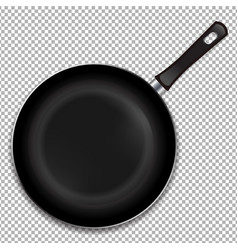 Frying pan isolated vector