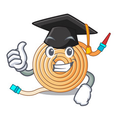 Graduation garden water hose cartoon vector