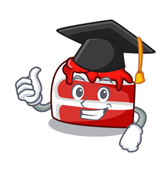 Graduation red velvet character cartoon vector