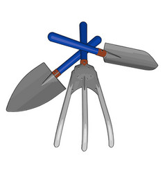 Hand tools for gardening or color vector