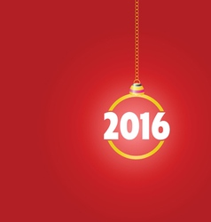 happy new year 2016 color ball vector image
