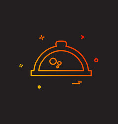 hot pot icon design vector image