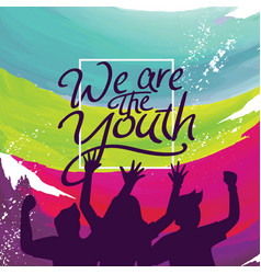 international youth day poster banner vector image
