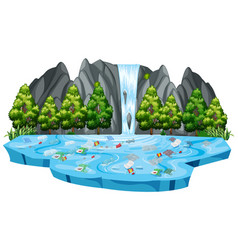 isolated pollution in nature vector image