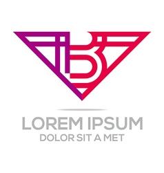 Lettermark b icon logo vector