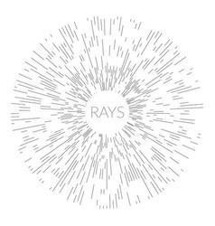 linear drawing art deco vintage sun burst frames vector image