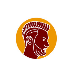 logo design outline mens haircut vector image